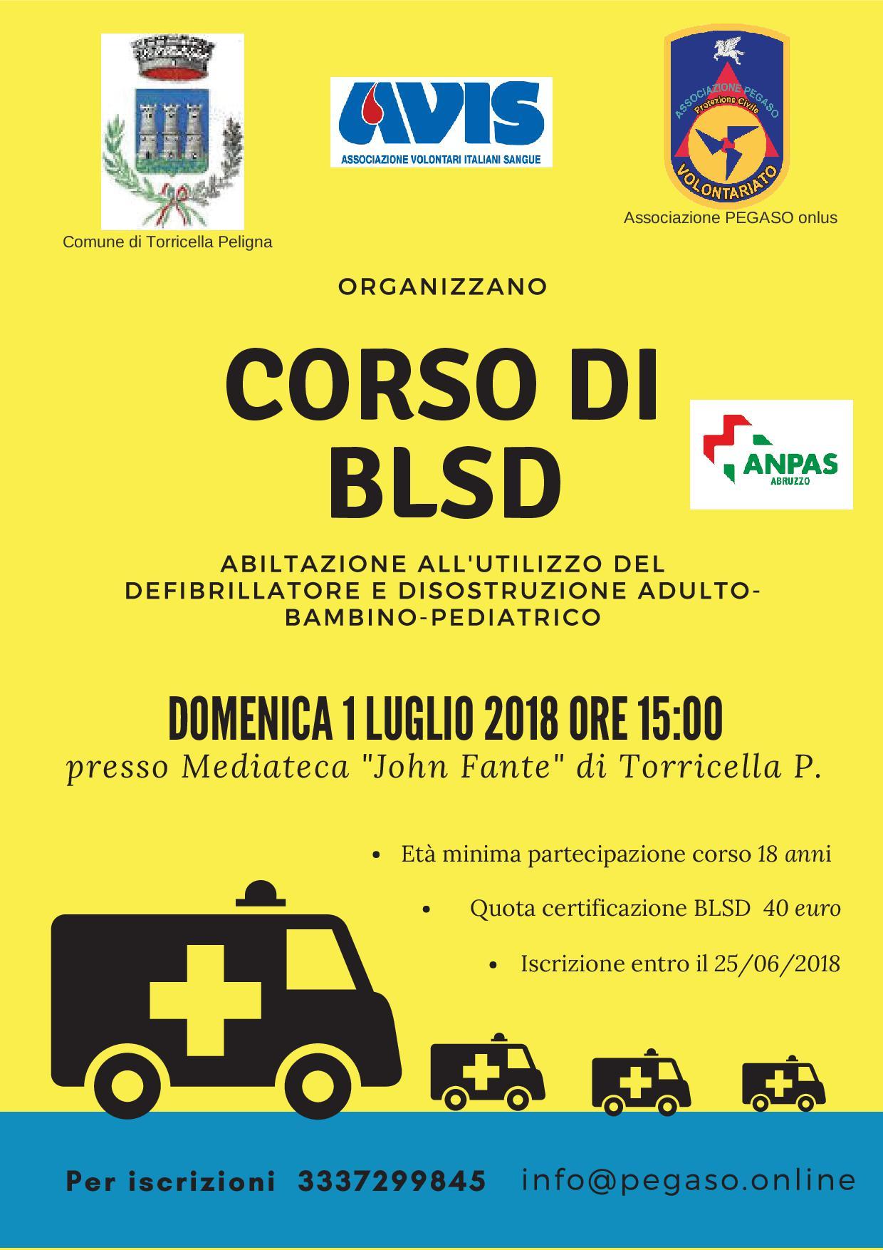 Corso BLSD Torricella Peligna