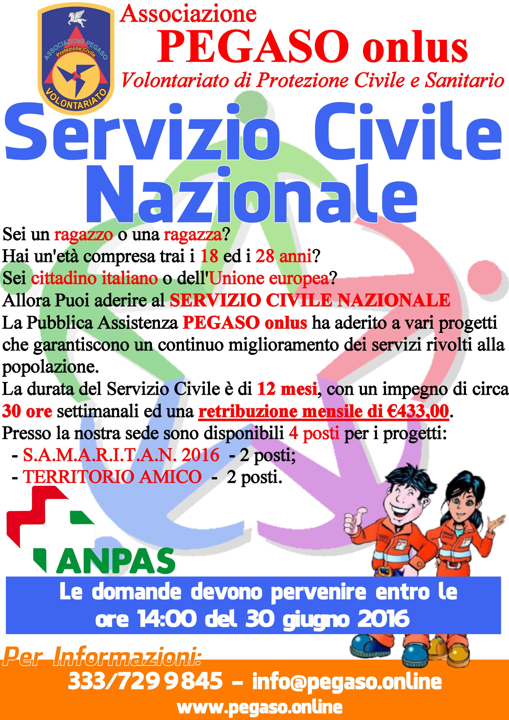 SCN Servizio Civile Nazionale 2016